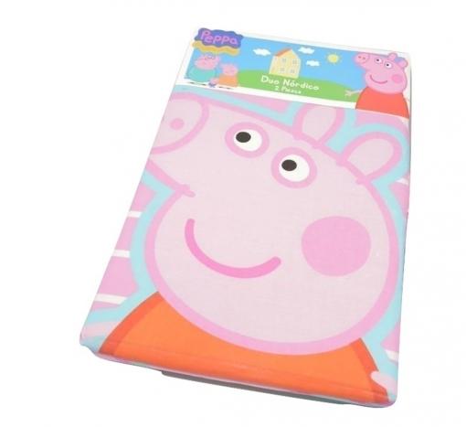 Edredon Nordico Peppa Pig.Duo Nordico Peppa Pig Heart Rosa 160x250 Cm