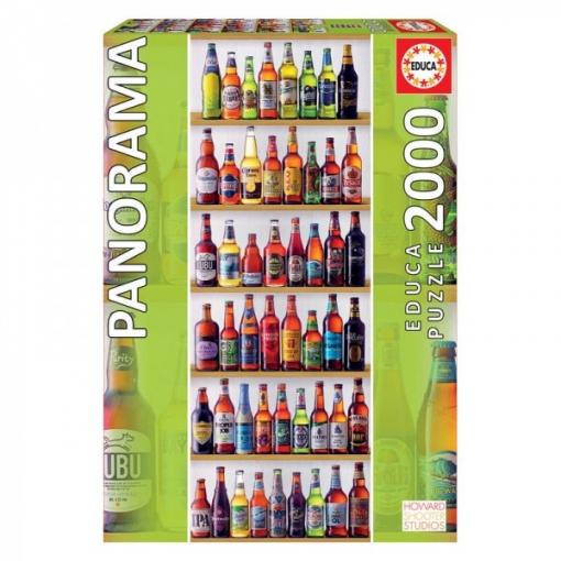 Puzzle Cervezas Del Mundo Panorama 2000pz