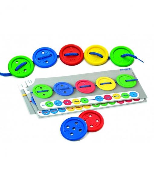 Juguete Didáctico Miniland Activity Buttons 40 Pcs