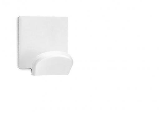 Colgador Adhesivo Acero Inox Blanco 2 Unidades