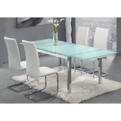 Conjunto mesa y 4 sillas salon o comedor avior osaka las for Oferta mesa comedor extensible y sillas