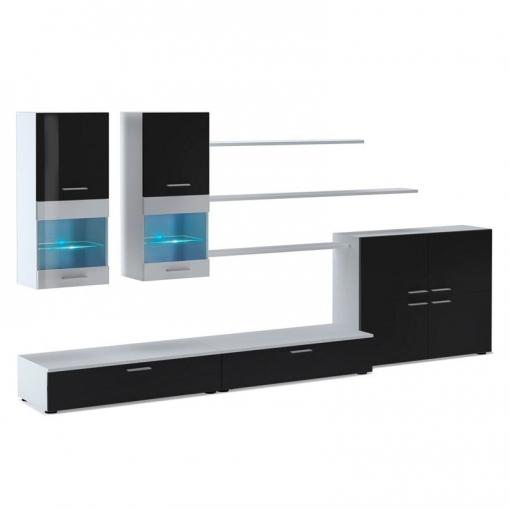 Mueble De Sal�n Beta - Color - Blanco - Negro