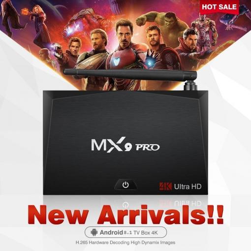 Tv Box Mx9 Pro Android 8 1 4gb+32gb 4k 3d 2 4g/5 8g Dual Wifi Bt4 1  Rockchip 3328