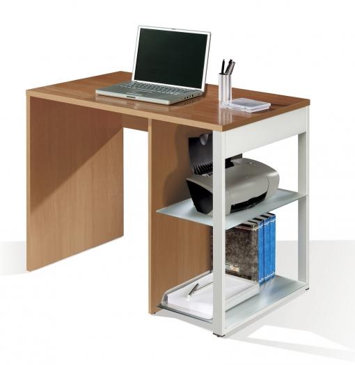 Mesa Para Oficina, Ordenador O Escritorio Color Cerezo, Pata Lateral ...