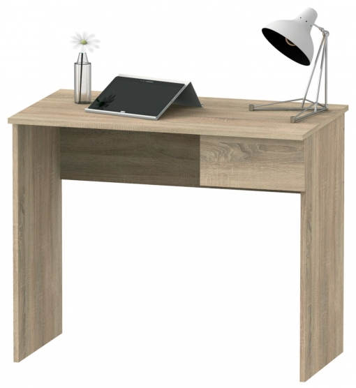 Escritorio Mesa De Ordenador Color Roble Con Cajón Para Oficina, Despacho O  Estudio 90x50x75 Cm