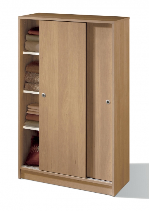 Armario auxiliar zapatero multiusos roble de 2 puertas for Armario puertas correderas 100 cm