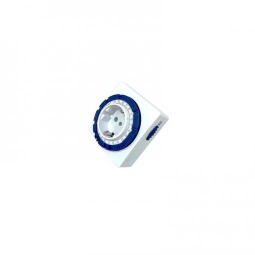 Reloj Programador Analógico 24h Compacto Silver Electronics