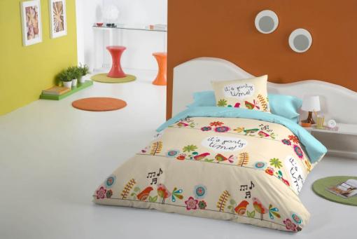 online para la venta tienda oficial renombre mundial Valentina Funda Nórdica + 1 Funda De Almohada Party Time 20444 - Cama: 105  / Twin