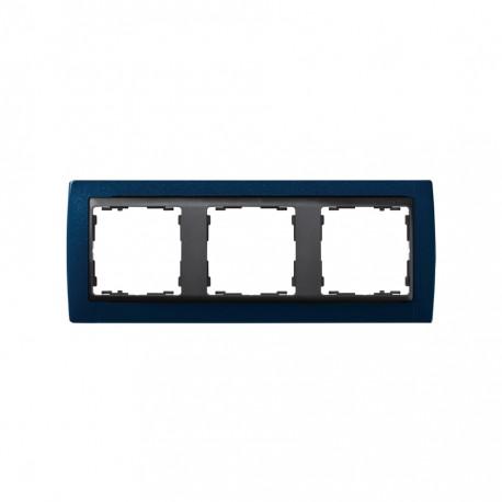 Marco 3 Elementos Azul Metalizado Zócalo Grafito Simon 82 82834-64