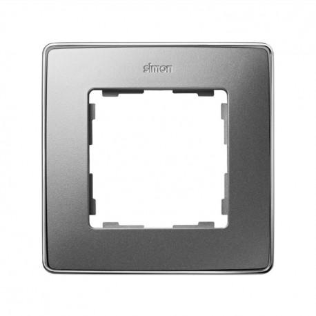 Marco 1 Elemento Aluminio Frio Base Cromo Simon 82 Detail 8201610-093