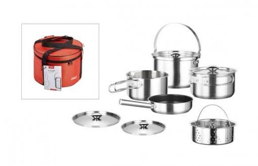 Bateria Cocina Inox Kamp 5 Pzas - Inoxibar - 61117