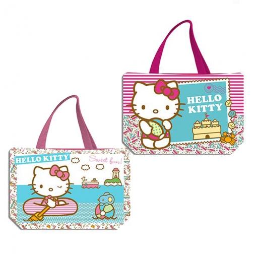 Bolsa De Playa 34x50 Cms Hello Kitty Kids Con Ofertas En
