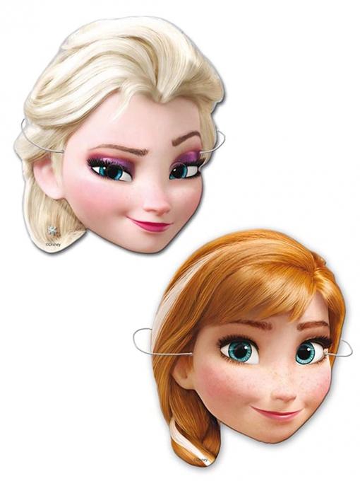 Pack 6 Caretas Frozen Elsa Y Anna Las Mejores Ofertas De Carrefour