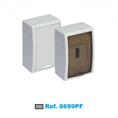 Caja Para Icp De 1 A 4 Elementos Fumé 40a De Superficie Solera 8699pf