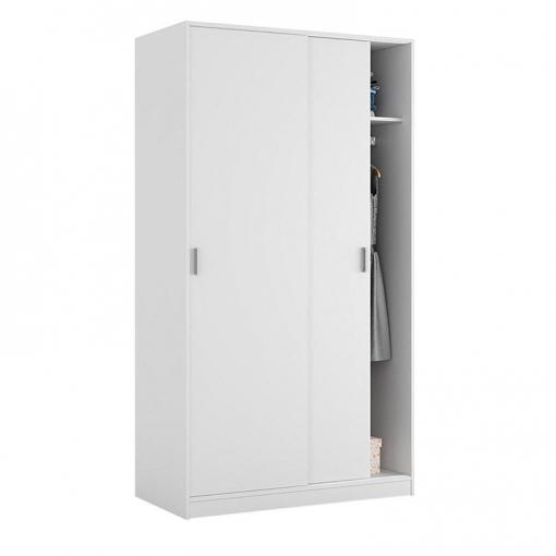 armario dos puertas correderas max019o color blanco mate