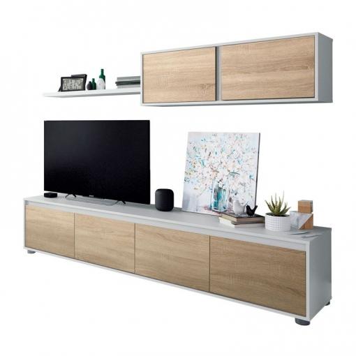 Mueble Para Salón Comedor Compuesto De Varios Módulos En Color Roble ...