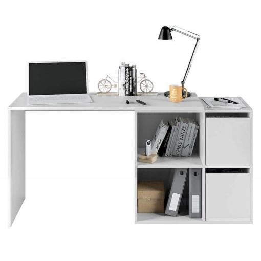 Mesa escritorio despacho juvenil color blanco for Mesa escritorio carrefour