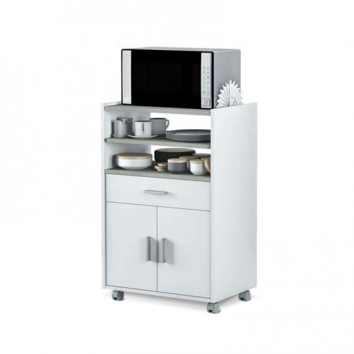 Mueble Microondas Plutón Bufe Cocina Aparador Estilo Moderno 59x40x92 Cm