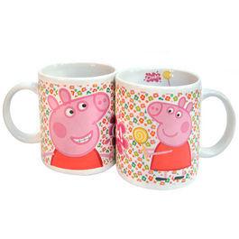 Taza Ceramica Peppa Pig Flores