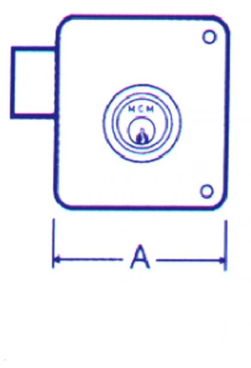 Cerradura Sobrep Pint Dcha - Mcm - 2524pr - 100 D