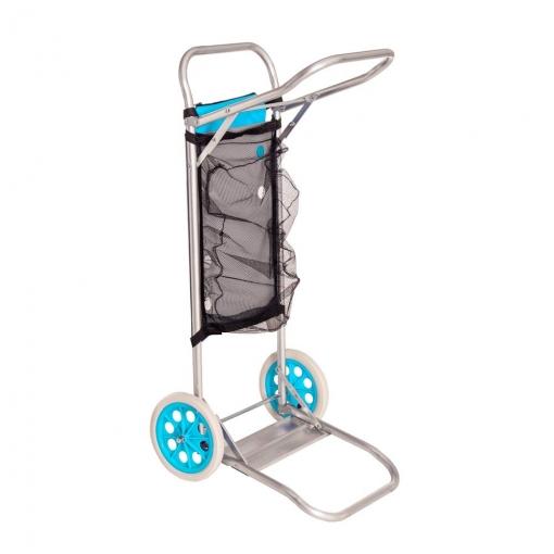 Carro Portasillas Plegable Azul De Aluminio Para Camping Y Playa Con Ofertas En Carrefour Las Mejores Ofertas De Carrefour