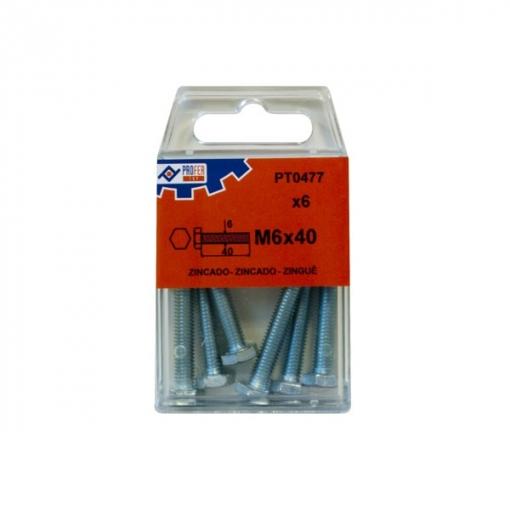 Tornillo Din933 C/exag Zn C/6 - Neoferr - 48506-pt0477 - 6x40 Mm