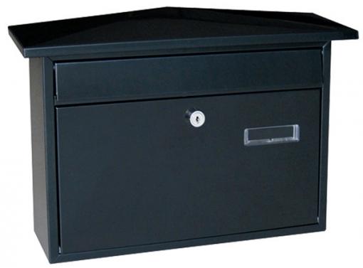 Buzon Exterior Acero Negro 41x10x28,8 - Cz - C2-0105