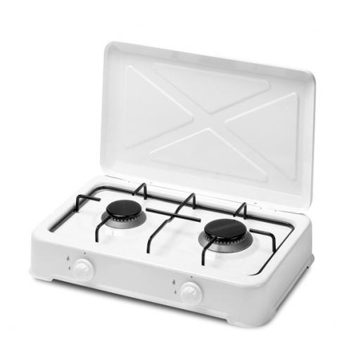 Cocina gas 2 fuegos con tapa profer home ph1145 las for Cocina de gas carrefour