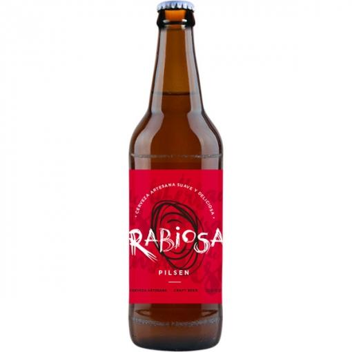 Cerveza Rabiosa Pilsen Pack 6 Botellines