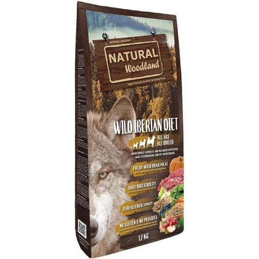 Natural Greatness Pienso Seco Para Perros Receta Natural Woodland Wild Iberian Diet.super Premium.todas Las Razas Y Edades. 12kg