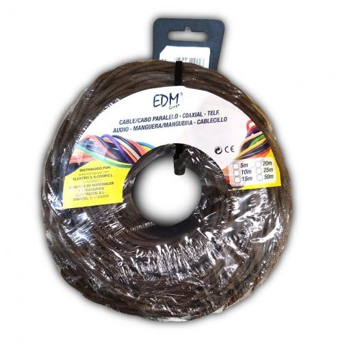 Paralelo Textil Trenzado 2x1 Marron 25mts