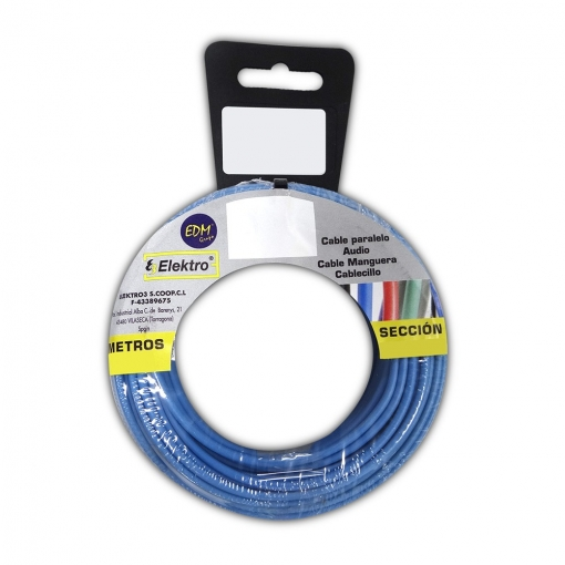 Carrete Cablecillo Flexible 2,5mm Azul 15m Libre-halogeno