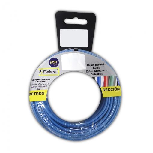 Carrete Cablecillo Flexible 2,5mm Azul 25m Libre-halogeno