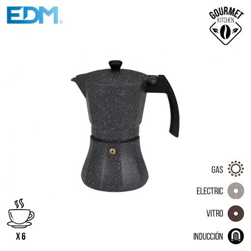 Cafetera 6 Tazas Aluminio Para Induccion Edm