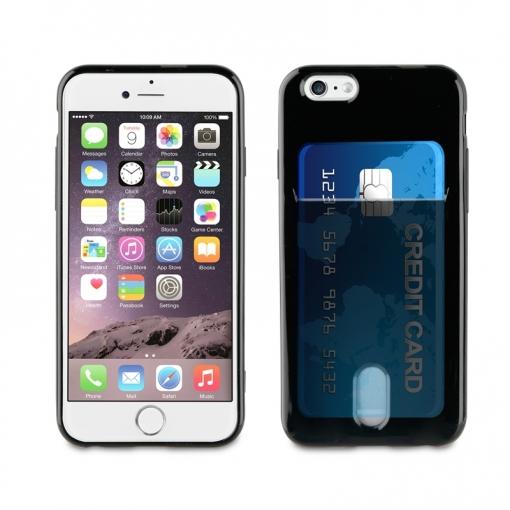 9cd6551d94c Muvit Funda Cristal Soft Apple Iphone 6s/6 Con Ranura Para Tarjetas Negra