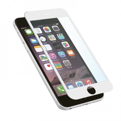 d7414ee5fc1 Protector De Pantalla Tempered Glass 0,33mm 3d Curvo Marco Blanco Apple  Iphone 8 Muvit