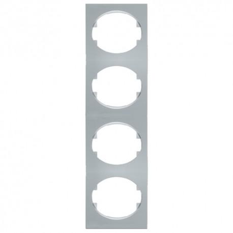 Marco 4 Elementos Vertical Plata Niessen Tacto 5574 Pl