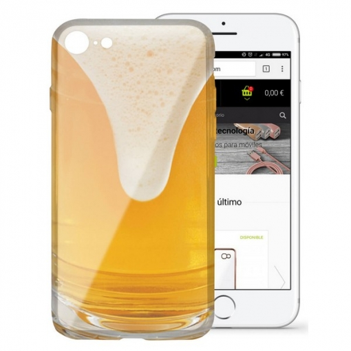 Funda Para Móvil Iphone 7/8 Flex Tpu Cerveza