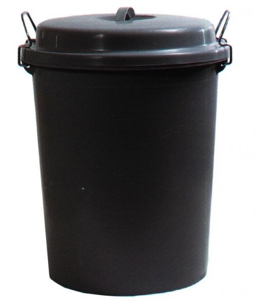 Cubo Basura Industrial Negro - Pascor - 12190 - 80 L