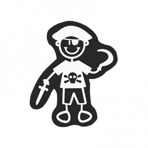 Adhesivo Familia Niño Pirata