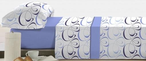 Polo-polo Juego De Sábanas Coralina Elliot Color Azul - Cama: 150 / King