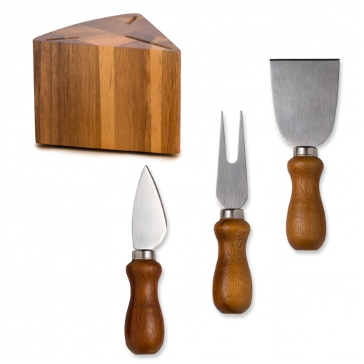 Balvi - L'hédoniste Set De Utensilios Para Queso. Cuchillos Para Queso Con Sopor