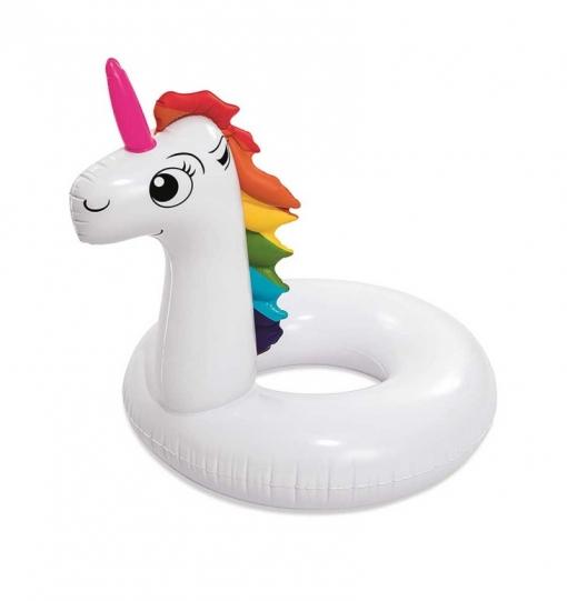 Flotador hinchable unicornio gigante diversion playa o for Piscinas bestway carrefour