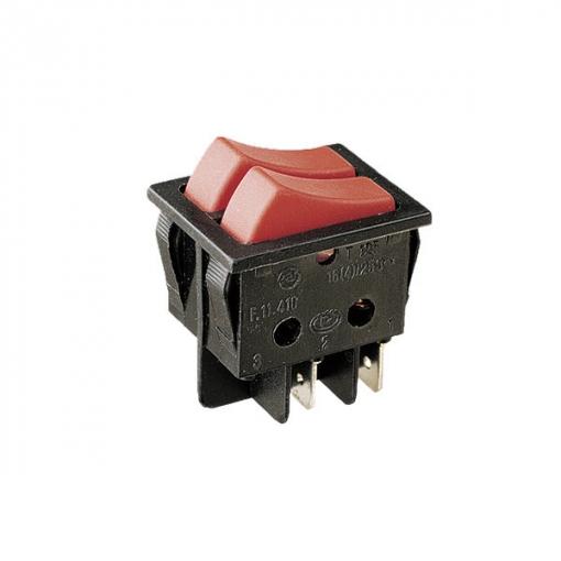 Outlet 11.410.i/n Interruptor Unipolar Doble Tecla Cuerpo Y Teclas Color Negro Tipo 2 Interruptores 16a/250v Electro Dh 8430552016808
