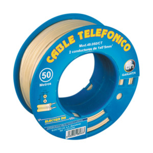Cable Telefónico Manguera Plana Carrete 250 M Electro Dh 49.050/cr 8430552094868
