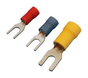 Pack De 100 Uds Terminales Fastom Horquilla 5.3 Mm. Para Cables De 4 A 6 Mm² Electro Dh Color Funda Amarillo 10.925/5.3/a 8430552143665