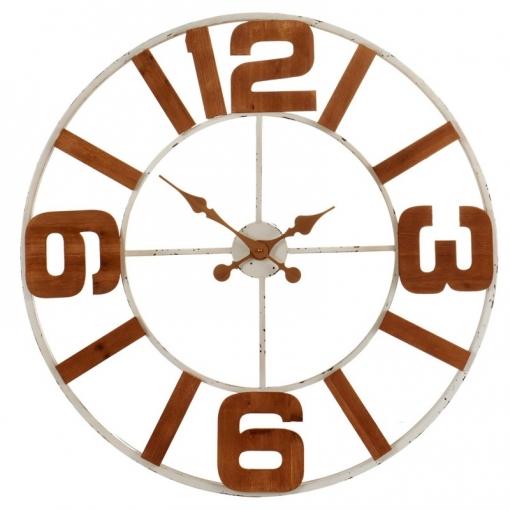 Madera Y Con De MinimalistaHierro Pared Reloj Ligero Diseño Números 36912Muy Un 80cm Diámetro iulwXTOPkZ