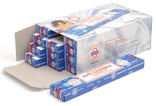 Incienso Nag Champa Azul Pack 12 Cajas De 15 Gramos Inciensos Original Garantia