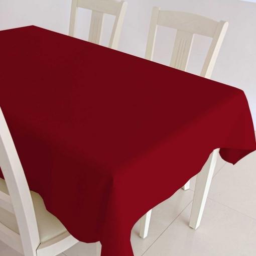 New Home - Mantel Loneta Resinada Elegance Liso Impermeable - Color: Rojo - Medida Mantel: Rect. 140x200 Cm
