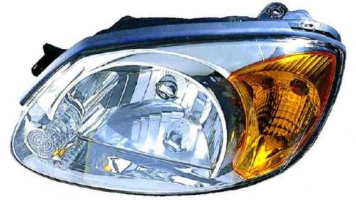 Hyundai  Accent  (03->06) Izquierdo-faro Principal-ambar-manual/eléctrico     H4
